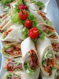 Pikanter Roastbeef-Wrap